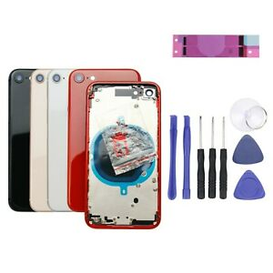 For iPhone 8 Rear Back Housing Chassis Metal Frame Glass Cover Replacement