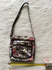 PRE OWNED PURSE LE SPORT SAC MULTI COLORED FLOWER PRINT FLORAL GOOD CONDITION