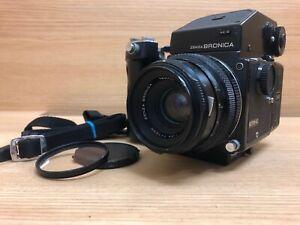 EXC + 5 Bronica Etr-C 6x4.5 Kamera Mit / AE II Finder & Zenzanon Mc 75mm F/2.8