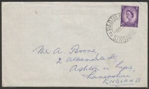 Singapore 1962 QEII GB 3d Cover Used with Paquebot / Singapore Postmark