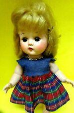 """Vintage Hard Plastic Mary Lu Walker doll 10"""" Tall-1960s"""