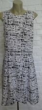 Donna Karan for DKNY Black White geometric Dress Size 10 NWT Trending