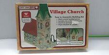 "NOS SEALED LIFE-LIKE N SCALE ""VILLAGE CHURCH"" PLASTIC MODEL KIT #7410"