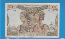 Gertbrolen 5000 FRANCS (TERRE ET MER ) du 5- 4-1951  B.56