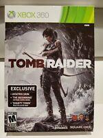 Tomb Raider (Microsoft Xbox 360, 2013) Preorder Bonus Book The Beginning Box