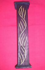 Purple Wooden Incense Holder Tower With Hinged Door Plus 10Pk Incense.