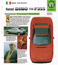 FERRARI Dino to F355 History Brochure:308 GTBi, 206,GT4,288 GTO,348 TS,GTB,
