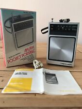 Vintage Realistic AM-FM Pocket Portable Radio 12-714A Headphones New In Box