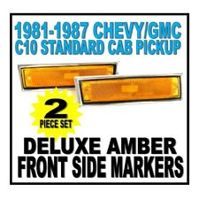 19 81 82 83 84 85 86 87 Chevy GMC Truck C10 Front Amber Deluxe Side Marker Set