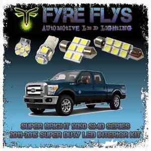 7x White LED interior lights package kit for 2011-2015 Ford F250 Super Duty 5050