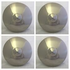 1949-1950 FORD Polished Stainless Steel BLANK Hub Poverty Center Cap SET of 4