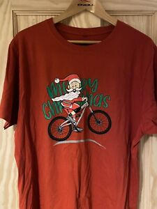 Orange Mountain Bikes 2020 Christmas Tee Shirt XL Brand New