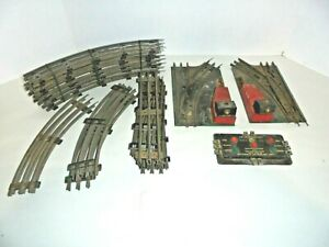 MARX TRACK LOT WITH SWITCHES & REMOTE TRACK SECTION POSTWAR VINTAGE