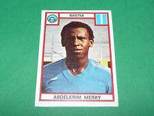 MERRY SEC BASTIA SECB FURIANI CORSICA RECUPERATION PANINI FOOTBALL 76 1975-1976
