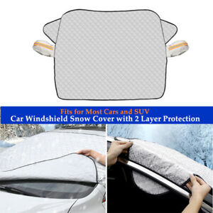 Car Windshield Snow Cover W/2 Layer Protection For Most Car and SUV Universal