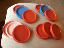 Tupperware 3 Modular Mates Red Round Replacement Lid Seal ~ #1607 CHOICE OF 3