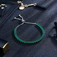 Women Cubic Zircon Tennis Bracelet Bangles Copper Adjustable Chain Jewelry MA