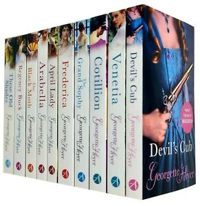 Georgette Heyer 10 Books Collection Set (The Grand Sophy, Frederica, Arabella )