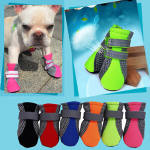 4PCS Pet Small Dog Non-Slip Breathable Shoes Puppy Boots Paw.Protection Booties