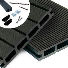 WPC Terrassendielen Komplettbausatz Komplettset in 3 Farben Neu 4 m Holz Diele