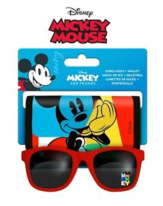 Licensed Disney Mickey Mouse Wallet & Sunglasses 2Pcs Set Boys Kids Gift 3+Y