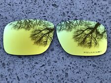 ETCHED POLARIZED 24K GOLD MIRRORED REPLACEMENT OAKLEY HOLBROOK LENSES