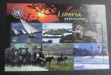 Liberia 2002 Ecotourism Year of Eco chimp elephant sheet UM MNH  unmounted mint