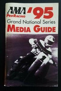 Vintage AMA 1995 Pro Racing Grand National Media Guide Flat Track Harley