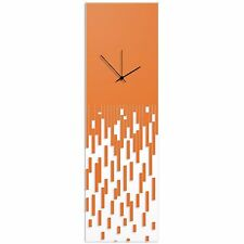 Surreal Wall Clock Techy Style Abstract Accent Piece Orange Transparent Clock