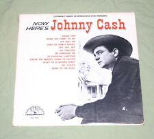 1966 HERE'S JOHNNY CASH SUN RECORD LABEL VTG VINYL LP ALBUM SLP1255 COUNTRY BLUE
