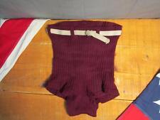Vintage 1930s Bvd Maglia Lana Costume da Bagno Burgundy Surfer Pantaloncini