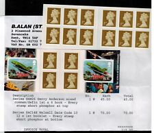 RARE ERROR   2 BOOKLETS Stamps have short irridescence bottom or top