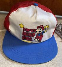 VINTAGE 1988 SUPER MARIO BROS HAT NINTENDO WHITE,RED,BLUE