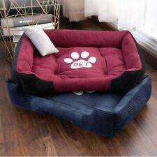Paw Print Pet Bed Large House For Large Dog Puppy Kennel Waterproof Cat Basket
