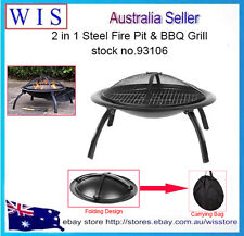 "26"" Portable Outdoor Fire Pit BBQ Camping Garden Patio Heater Fireplace"