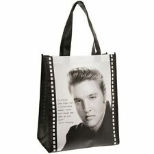 Elvis Presley Black and White Shopping Bag