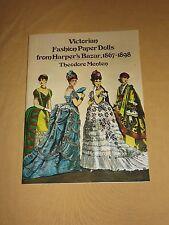 VINTAGE 1977 VICTORIAN FASHION PAPER DOLLS HARPER'S  BAZAR 1867-1898 BOOKLET