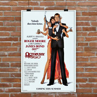 Octopussy 12x18//24x36inch 007 James Bond Movie Silk Poster Wall Decoration Hot