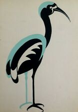 ART DECO work on paper 'The STORK' Animals - ca 1930 - FRENCH MODERNISM