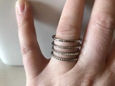 NWT Charming Charlie Tanis Twisted Cage Ring Silver Size 8