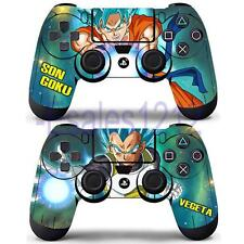 Dragon Ball Z Super Goku Vegeta Vinyl Skin Decal Stickers for PS4 2 Controllers