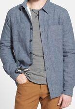 Thread For Thought Gray Fleece Lined Organic Cotton Shirt Jacket Sz XL $98 I617