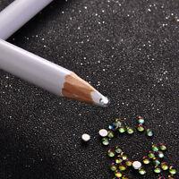 2Pcs Rhinestones Picker Pencil Pen Tool Nail Art Gems Crystals Studs Accessories
