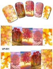 Envoltura de Completo Arte en Uñas Pegatinas Calcomanías Traslados árboles rojo (UP-031)