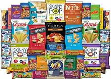 Healthy Snacks Care Package - Variety Assortment of Popcorn Chips Nuts Bars F.