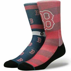 Stance Men Red Crew Cushioned MLB Baseball Boston Red Sox Splatter Socks L 9-12