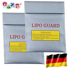 2x 18x22 cm Lipo Akku Guard Safe Safety Bag Tasche Ladetasche Sicherheitstasche