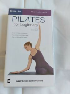 Pilates For Beginners VHS with Jillian Hessel Gaiam mind body health 70 mins run