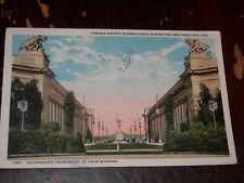 SAN FRANCISCO CA - 2 POSTCARDS 1915 PANAMA-PACIFIC EXPOSITION - GOLDEN GATE EXPO