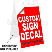 REPLACEMENT SIGN A-Frame Sidewalk Custom Signicade Decal Sticker 24x36, No Board